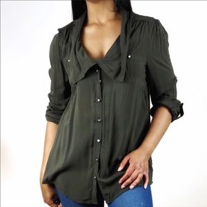 Anthropologie Odille button front shirt